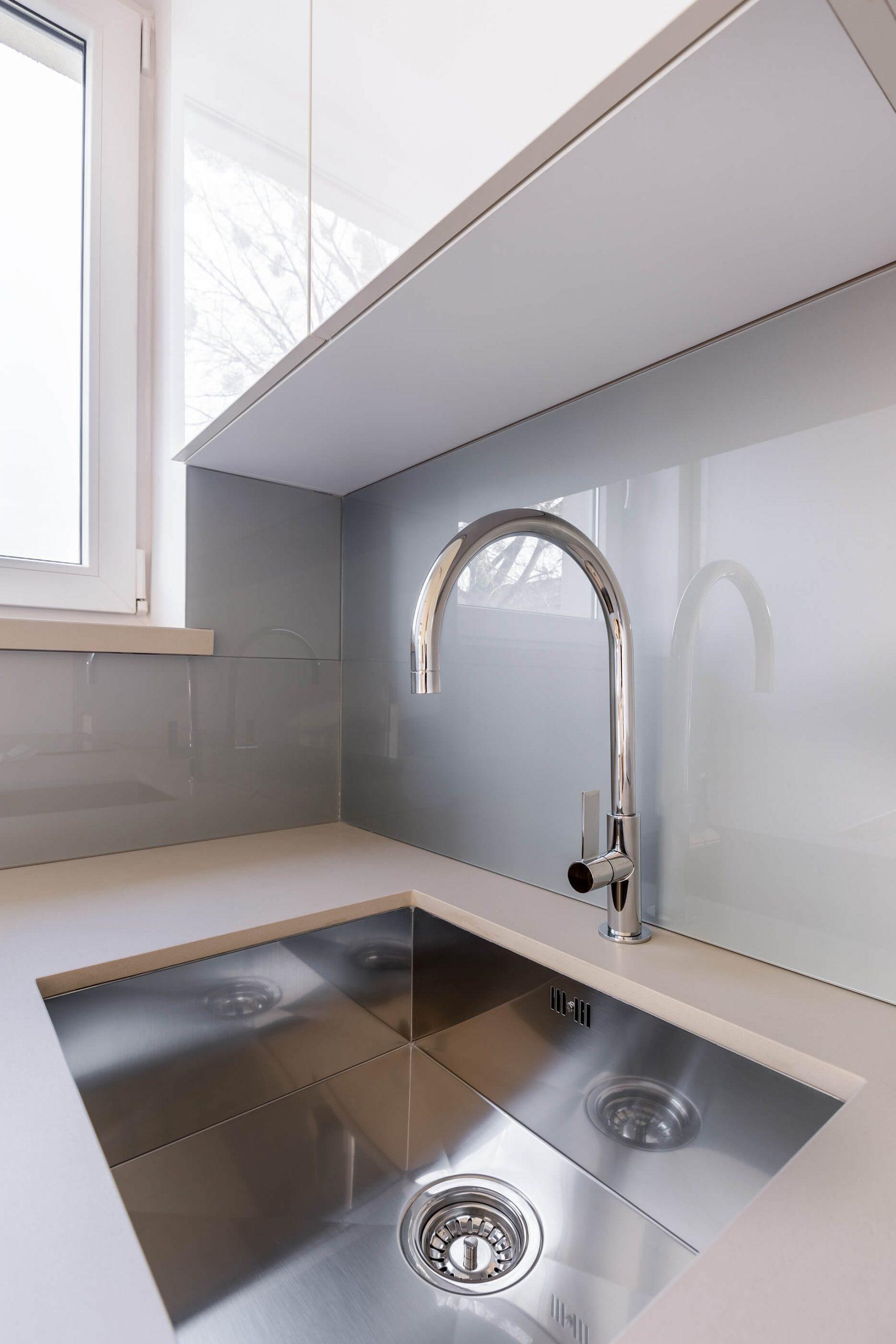 Picture of kitchen backsplash and sink